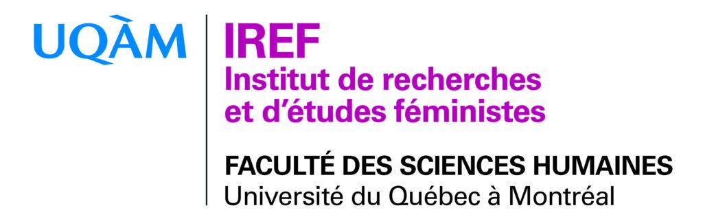 Logo de l'IREF, l'Institut de recherches et d'études féministes de l'UQÀM