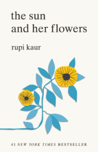 Couverture de The Sun and Her Flowers de Rupi Kaur. On y voit le dessin de deux tournesols.
