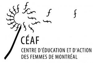 Logo du CÉAF, le Centre d'éducation et d'action des femmes de Montréal
